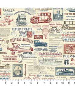 Vintage travel script
