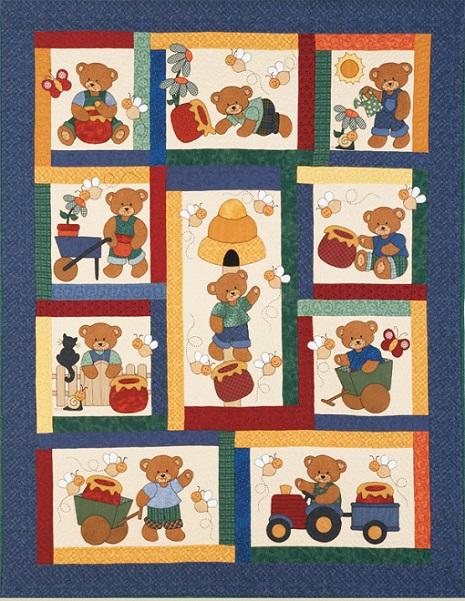 Honey Bear Quilt Pattern