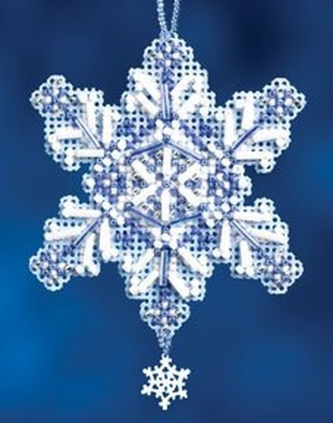 Sapphire Snow Crystal