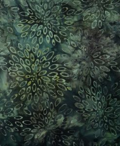 F9 GreenBlack floral