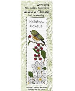 Bookmark Waxeye & Clematis